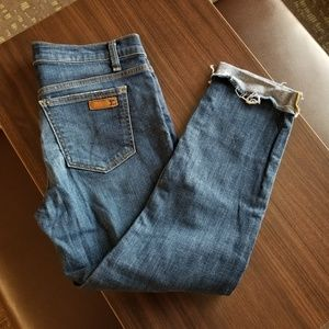 Joe's Jeans Raw Cuffed Hem Elma Wash Jean's Sz 28